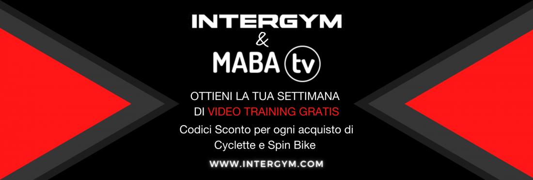 CON INTERGYM & MABA TV, COUPON GRATUITI PER UNA SETTIMANA DI VIDEO TRAINING E RIDES!