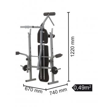 Panca con supporto bilanciere WBK-500