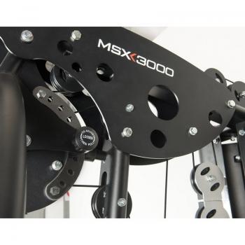Stazione multifunzione MSX-3000 pacco pesi acciaio 90 kg con doppio cavo libero